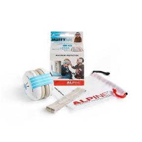 apsauginės ausinės vaikams - Alpine ALP-MUF/BBB - Muffy Baby earmuff white with blue head strap