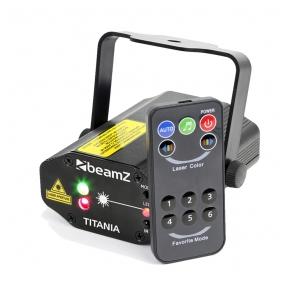 BeamZ Titania Double Laser 200mW RG Gobo IRC 152.663