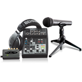 Vokalo įrašymo įrangos komplektas - Behringer PODCASTUDIO USB Recording Bundle