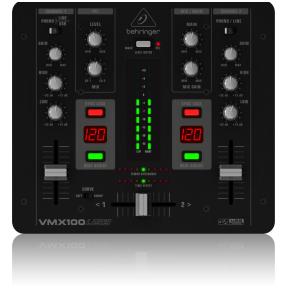 Behringer Pro Mixer VMX-100USB 2-CH DJ Mixer