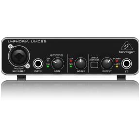 Behringer U-Phoria UMC-22USB Audio Interface