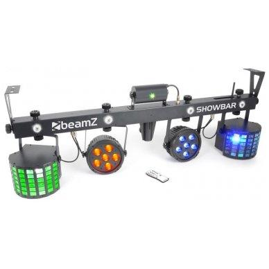 BeamZ SHOWBAR 2x PAR, 2x Butterfly and R/G Laser DMX IRC