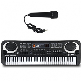 Childrens Musical Electronic Keyboard 61 Keys with Microphone MQ-6106
