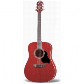 Akustinė Gitara Crafter MD-42/TR Transparent Red