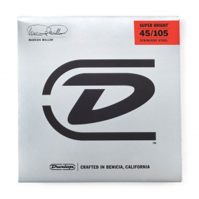 Dunlop DBMMS-45105 Marcus Miller Super Bright Stainless Steel .045 - .105