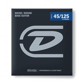 Dunlop DBN-45125 Nickel Wound Long Scale Bass Guitar Strings .045-.125