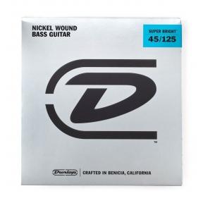 Dunlop DBSBN-45125 Nickel Wound Super Bright 5-String Bass Strings .045 - .125 - Medium