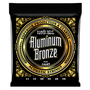 Ernie Ball 2568 Aluminum Bronze Acoustic Strings .011 - .052