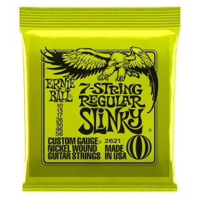 Ernie Ball 2621 Regular Slinky 7 Nickel Wound Electric Strings .010 - .056