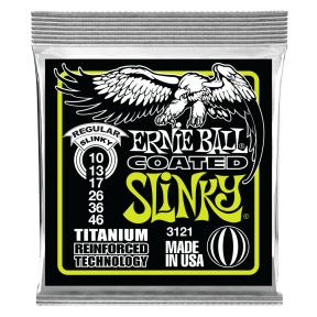 Ernie Ball 3121 Regular Slinky RPS Coated Titanium Electric Strings .010 - .046