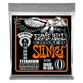 Ernie Ball 3122 Hybrid Slinky RPS Coated Titanium Electric Strings .009 - .046