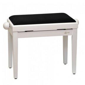 EVER PLAY PB-4A MATT WHITE WHITE TOP PIANO BENCH