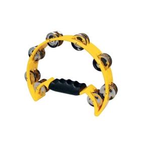 Hayman HTA-40-YE Half Moon Tambourine - Yellow