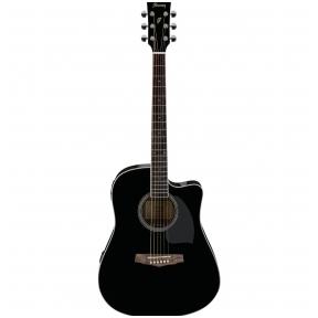 Ibanez PF-15ECE BK Dreadnought Cutaway Electro-Acoustic Guitar - Black