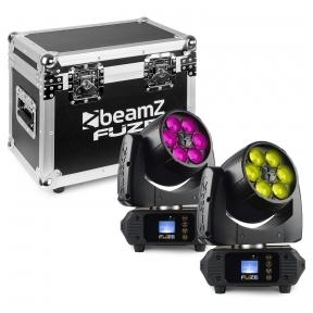 Judančių galvų komplektas su dėže - BEAMZ - FUZE610Z WASH 6X 10W LED 150.387
