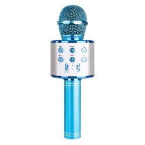 MAX KM01 KARAOKE MIC WITH BUILT-IN SPEAKERS BT/MP3 BLUE 130.136