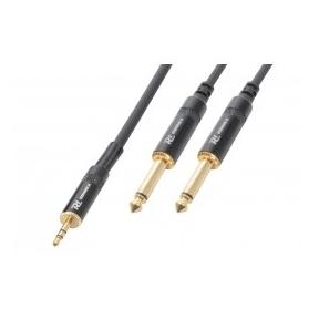 PD Connex Cable 3.5 Stereo-2x6.3 Mono 3.0m HQ 177.133