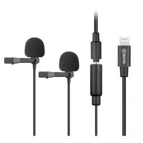 Prisegamas dvigubas ios mikrofonas - BOYA - BY-M2D