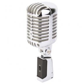 Retro stiliaus mikrofonas - PDS-M02 MICROPHONE RETRO STYLE CHROME 173.500