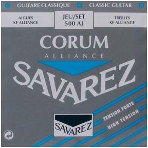 Stygos klasikinei gitarai Savarez 500-AJ Alliance Corum String Set Classic High Tension