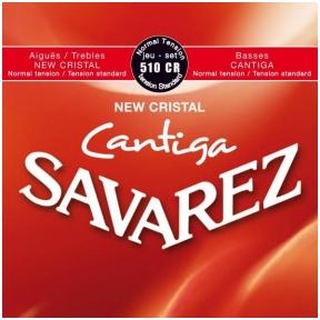 Stygos klasikinei gitarai Savarez 510-CR New Cristal Cantiga Normal Tension
