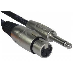Schulz Kabel MIK-1 XLR Female - 6.3mm TS 1m Microphone Cable