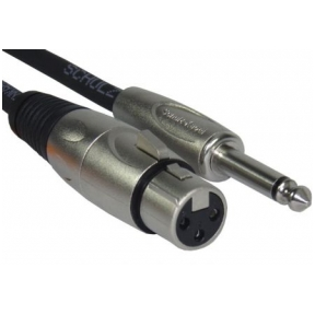 Schulz Kabel MIK-3 XLR Female - 6.3mm TS 3m Microphone Cable