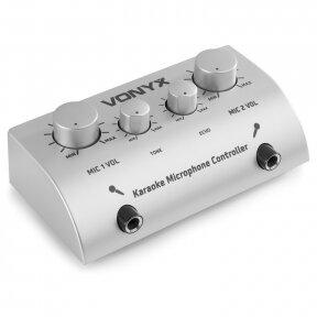 SYNTRONIC VONYX AV430 KARAOKE MICROPHONE CONTROLLER SILVER 103.112