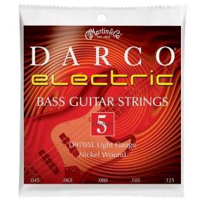 Stygos 5 Stygų Bosinei Gitarai Darco D-9705L .045 - .125