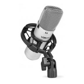 Vonyx CM400 Studio Condenser Microphone Silver 173.403