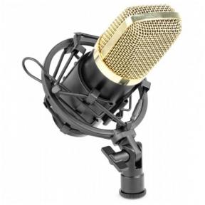Vonyx CM400B Studio Condenser Microphone Black/Gold 173.404
