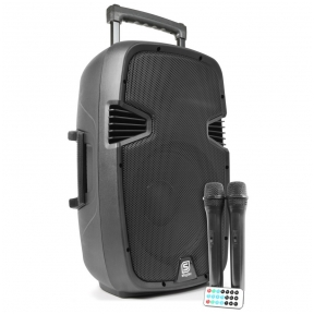 "Vonyx SPJ-PA912 Portable Sound System ABS 12"" 2 UHF/USB/MP3 170.075"