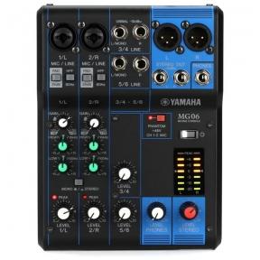 Yamaha MG-06 6-Input Compact Stereo Mixer